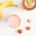 Pindakaas Smoothie met Aardbeien, Post Workout