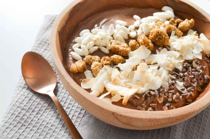 Chocolade Smoothie Bowl met Kokosmelk